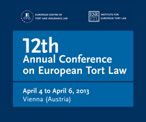 12th Annual Conference on European Tort Law